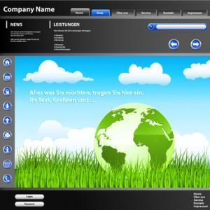 Webdesign - So könnte eine gestaltete Website aussehen