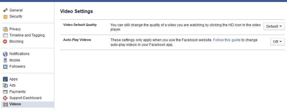 Anleitung um automatisch startende Facebook-Videos auszuschalten.
