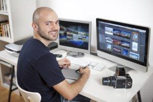 Professioneller Berufsfotograf